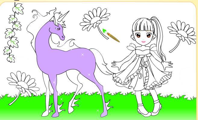 Coloriage204 jeux de coloriage de chevaux - Coloriage de chevaux en ligne ...